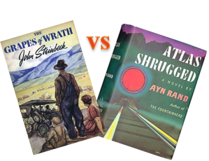 the grapes of wrath vs atlas shrugged